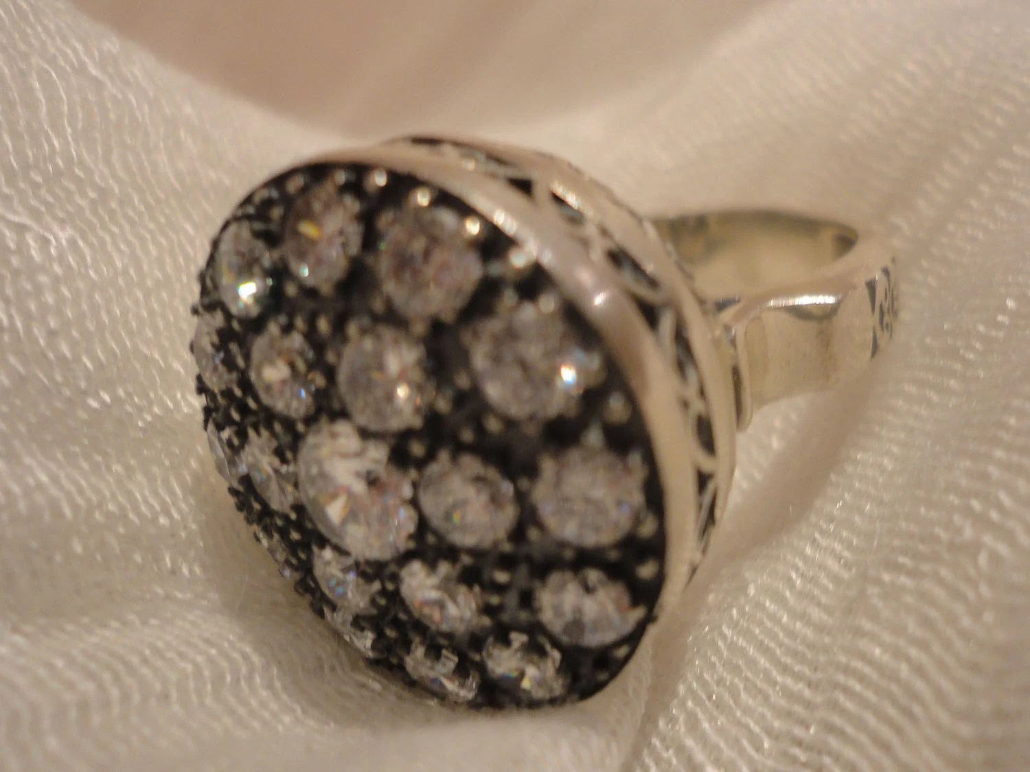 Silver Ring with Zircon by Ottoman Style SIZE  9