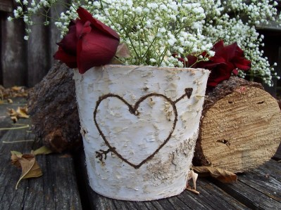 """Birch Wood Flower Vase Perfect for Weddings"""