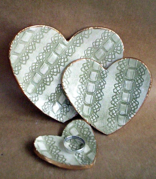 Lace Heart Nesting Dishes