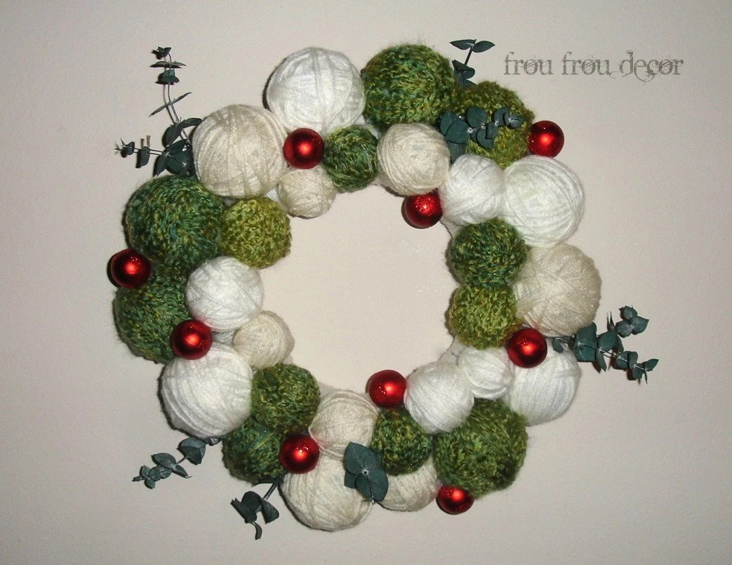 Holly Ball-y Christmas Wreath