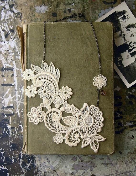 noemie lace necklace (ivory)