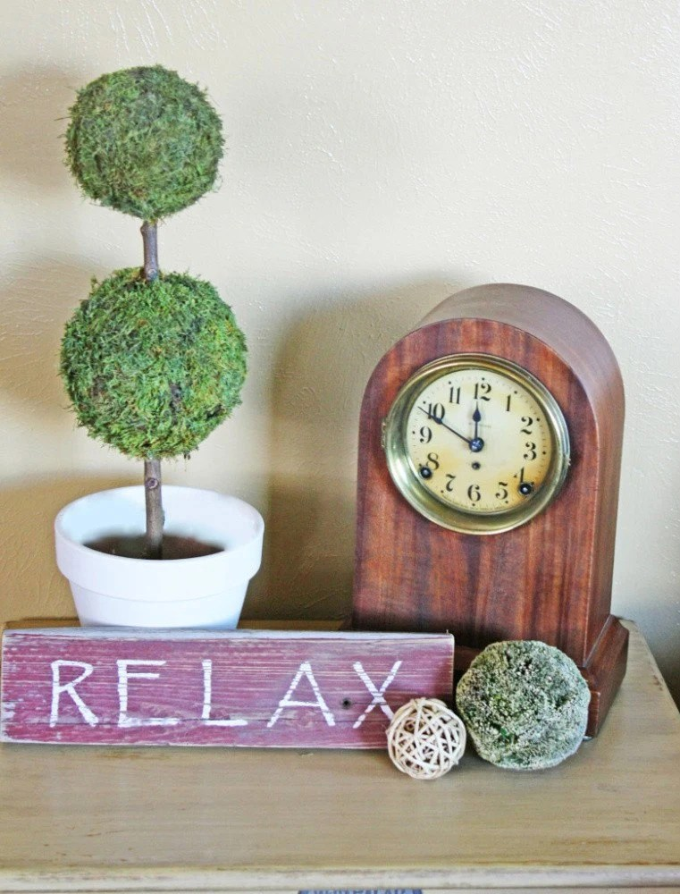 """Wood Sign """"Relax"""""""