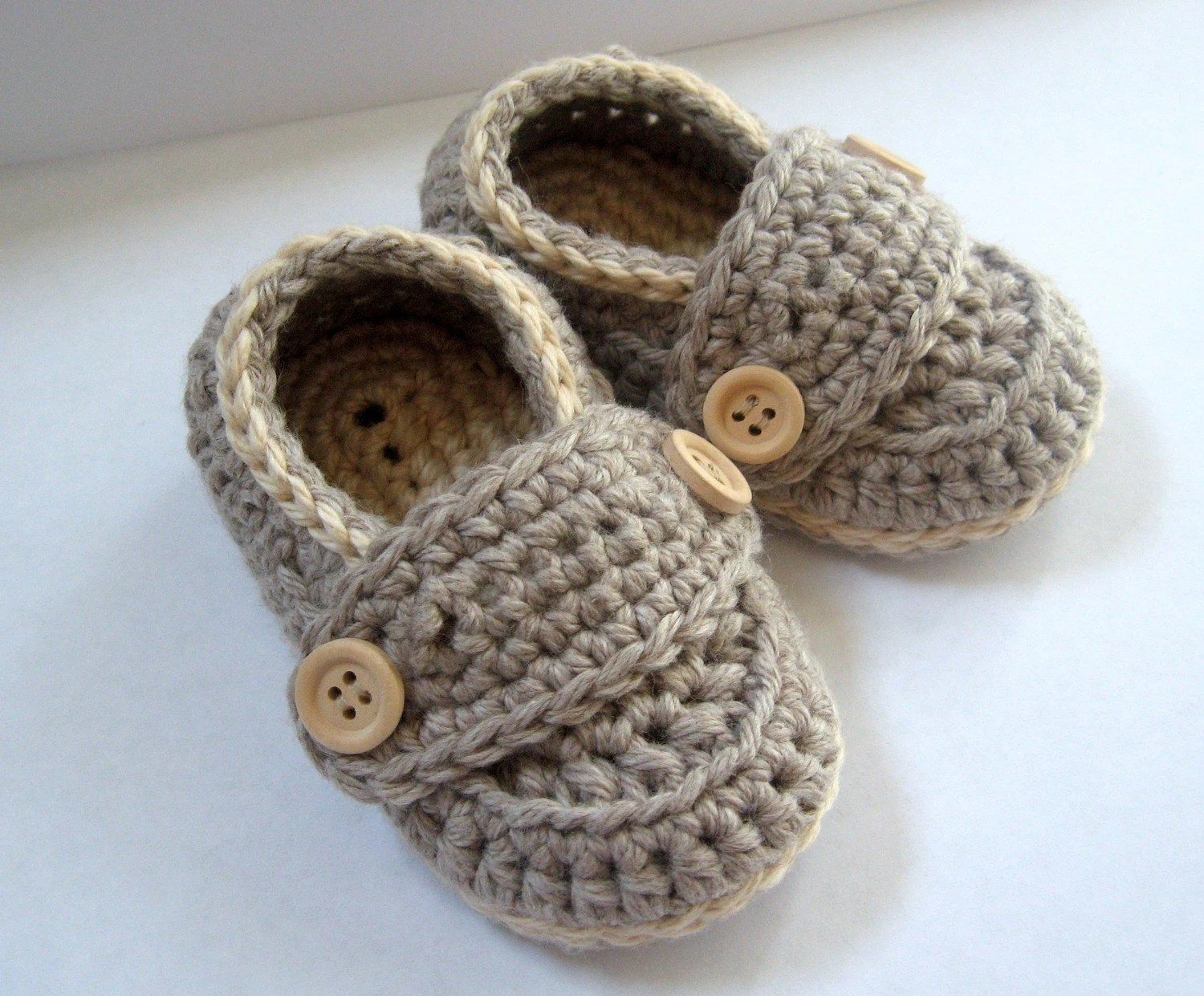 Organic Cotton Little Button Loafers Heather Grey sizes 0 thru 12 months You Choose Size