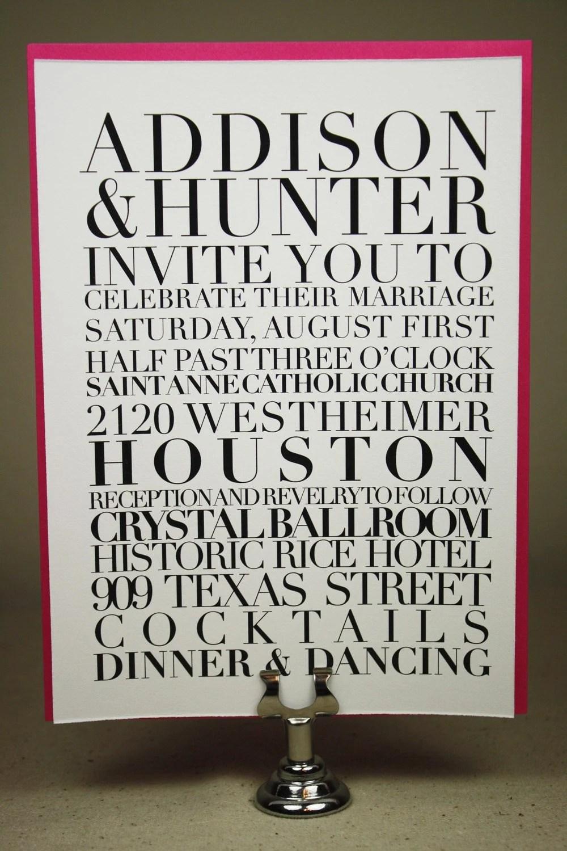 Typography Poster Invitation