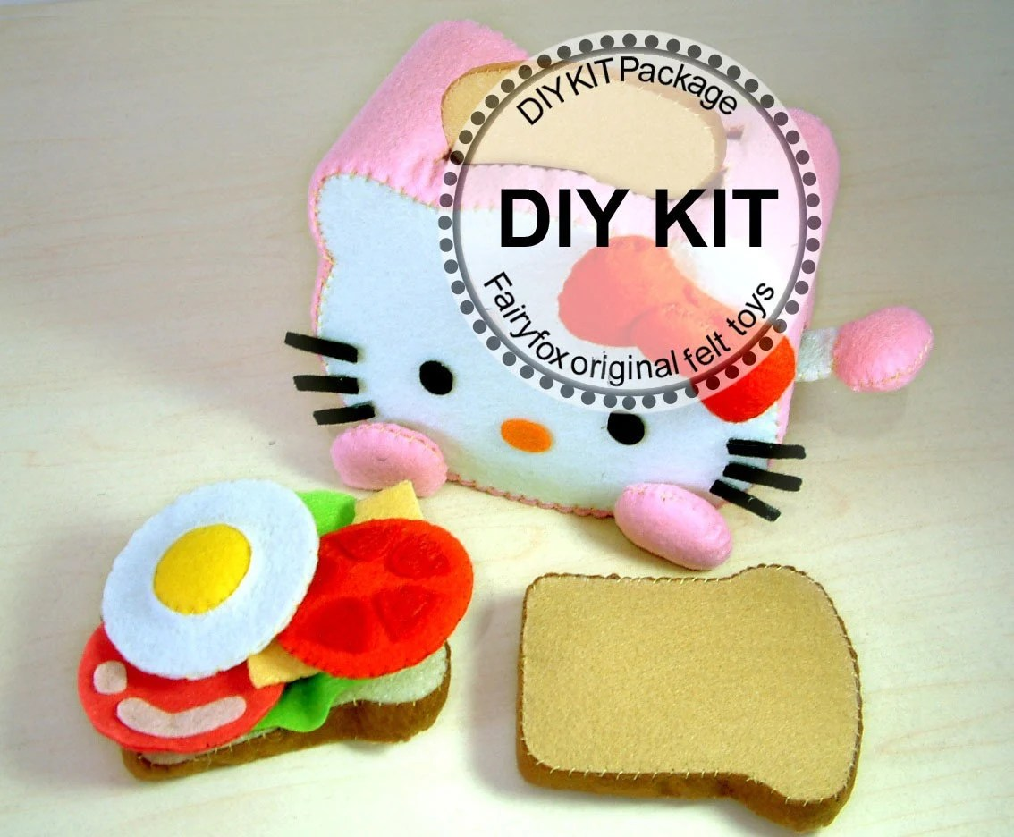felt toaster,felt toy,felt food pattern