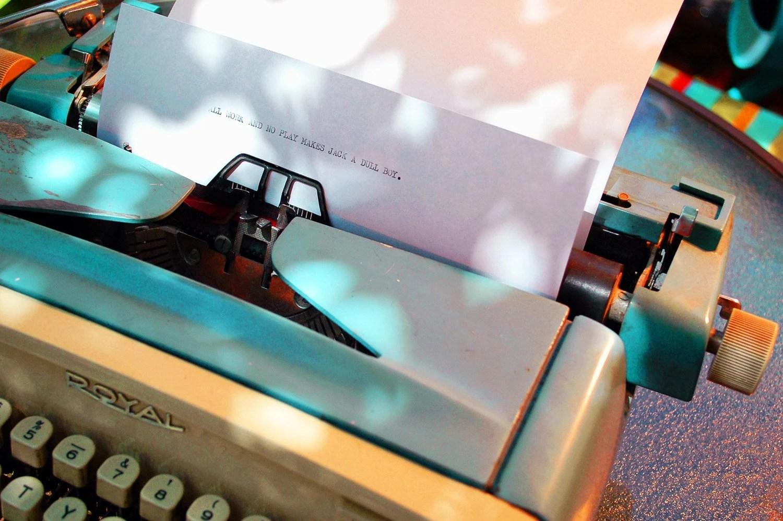 1960s Turquoise Royal Manual Typewriter
