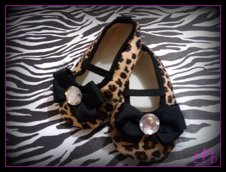 Infant Girls Leopard Print Shoes Newborn- 16m