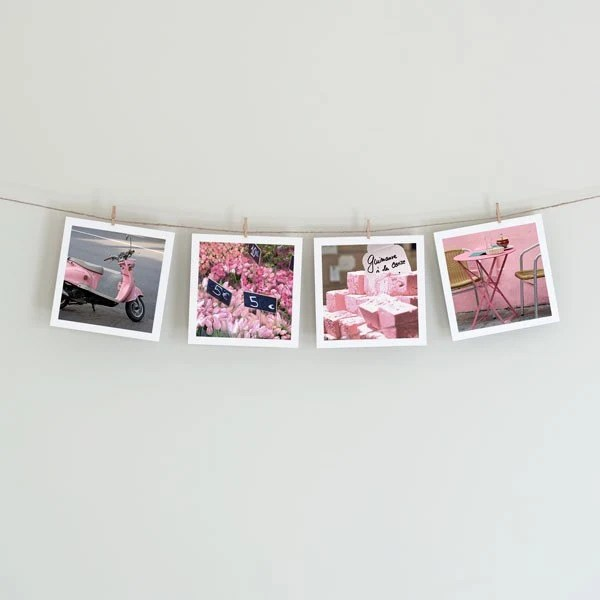 Paris in Pink - Collection of Four 5x5 Photos