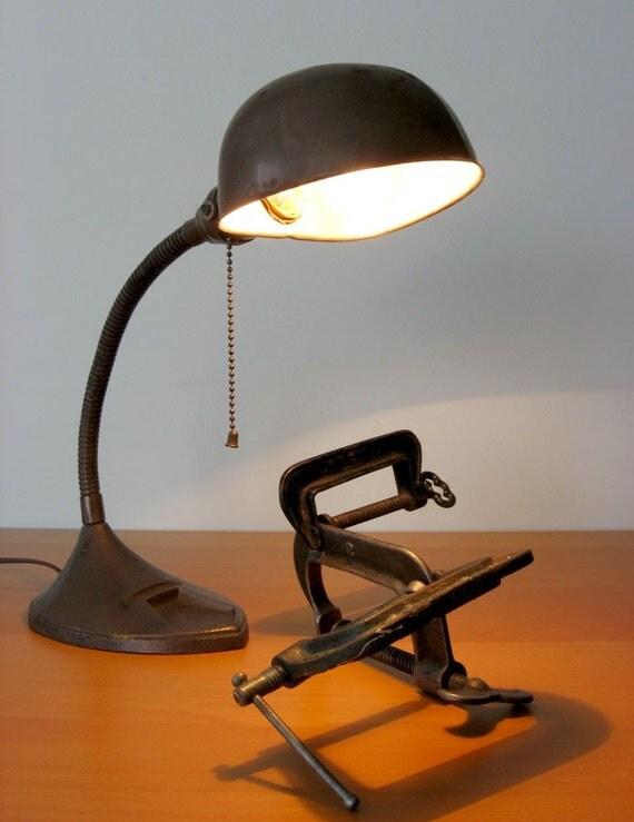 Vintage Industrial Gooseneck Lamp III