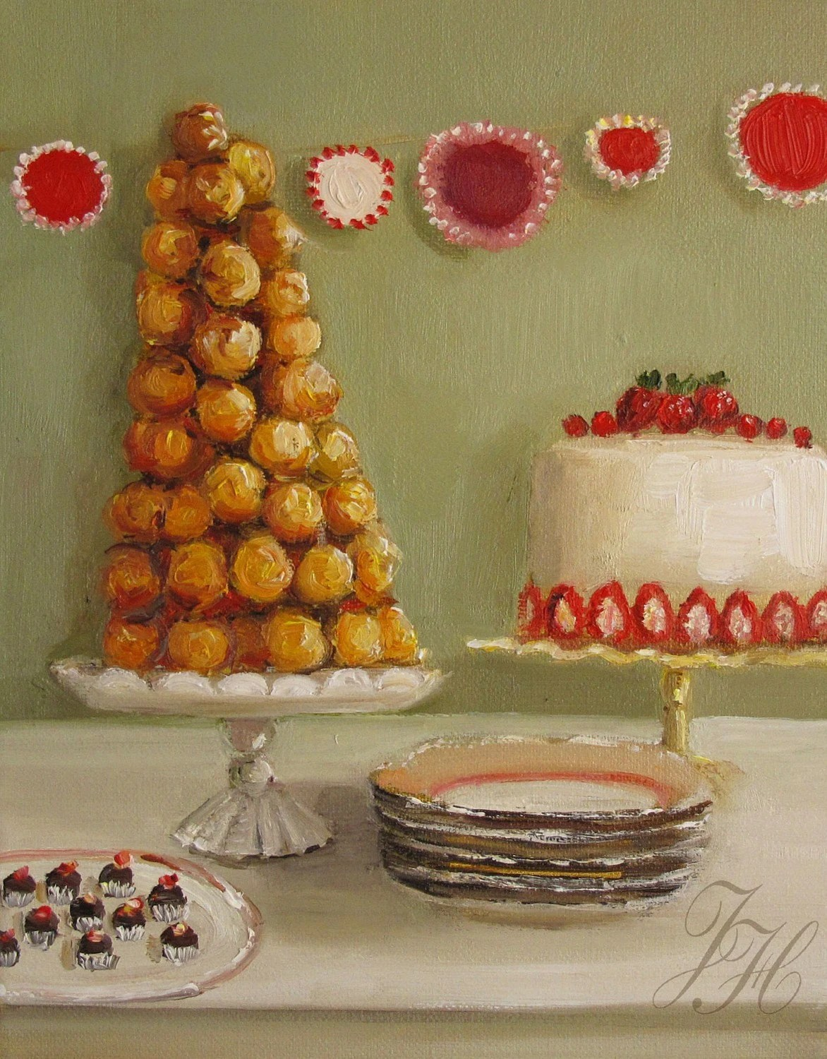 The Leaning Tower Of Croquembouche- Open Edition Print