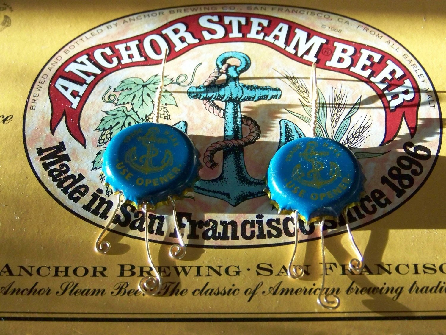 Anchorsteam Bottlecap Earrings