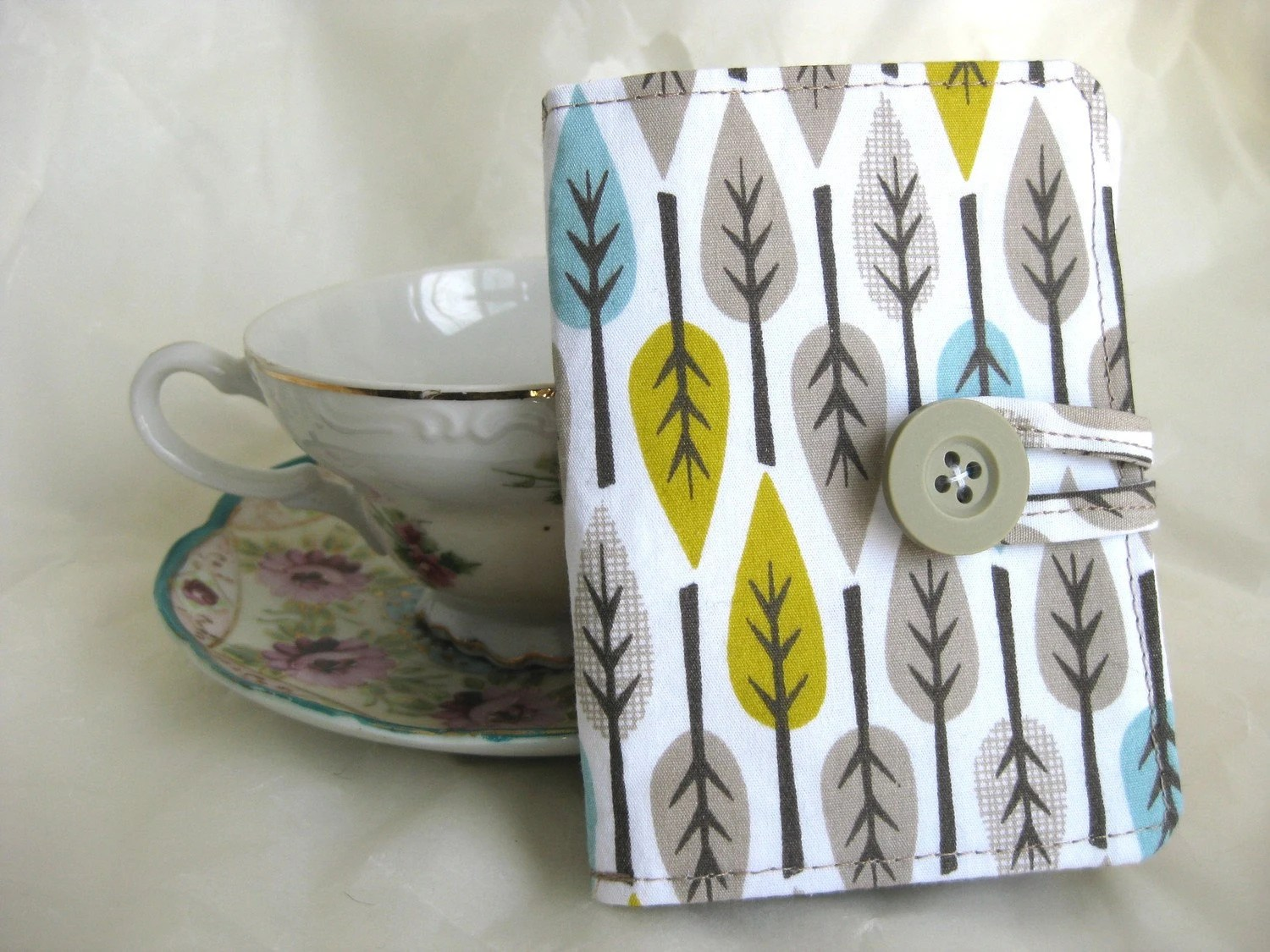 Tea Wallet - Leaves - Organic cotton