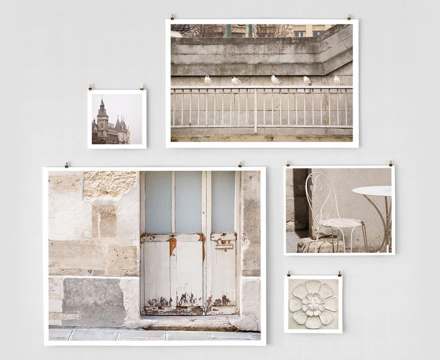 Paris Photo Collection - Mixed Sizes, White
