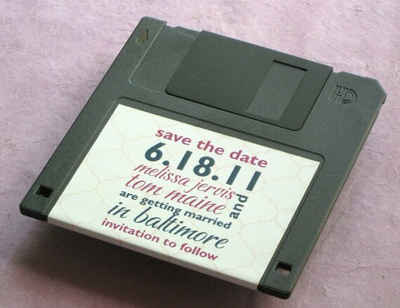 Floppy Disk Save the Date - Fun Clever Save the Date Idea