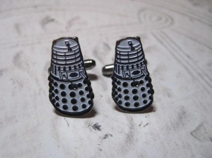 Tribute to Doctor Who the Dalek Cufflinks
