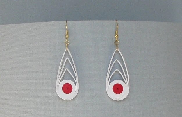 Japan Relief Aid -  Quilled Earrings