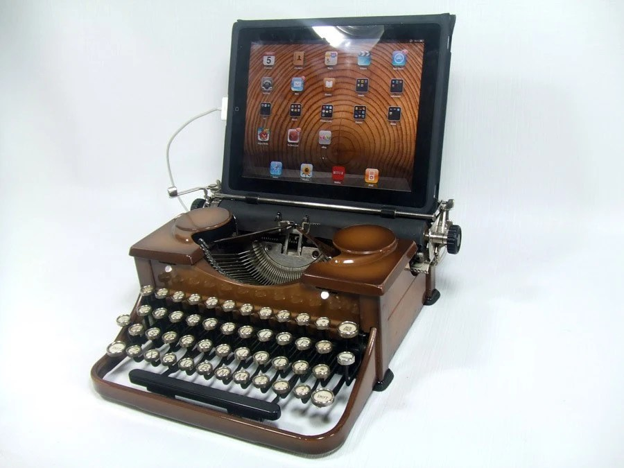 USB Typewriter Computer Keyboard -- Sunburst Royal Deluxe