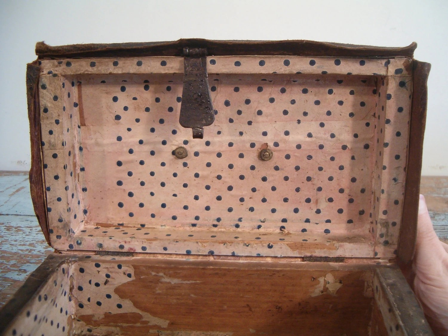 circa 1845 Hudson Valley NY document box