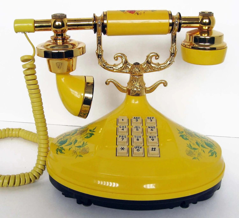 Vintage Empress Yellow Florals Princess Phone