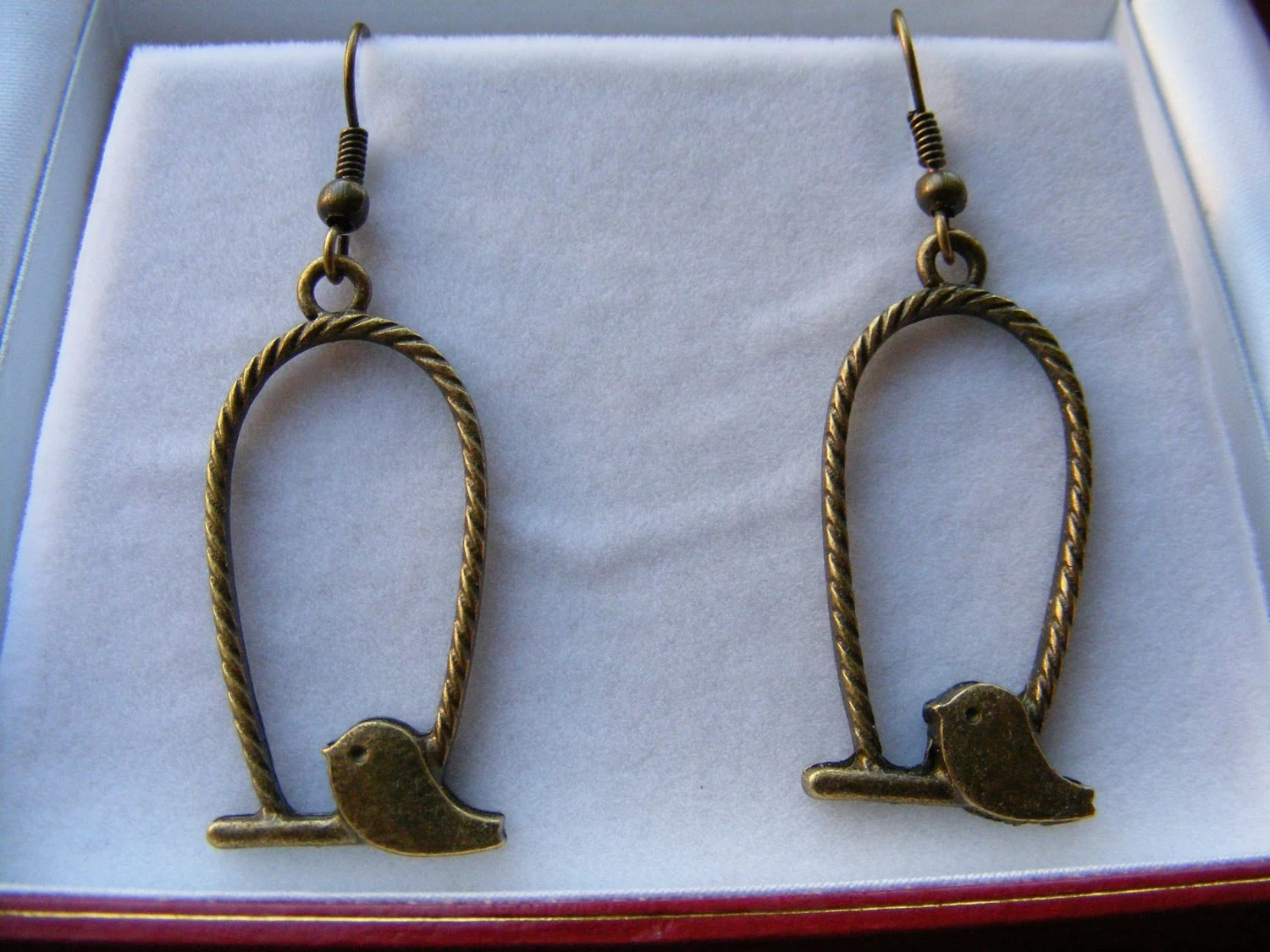 Let the Caged Bird Fly Earrings