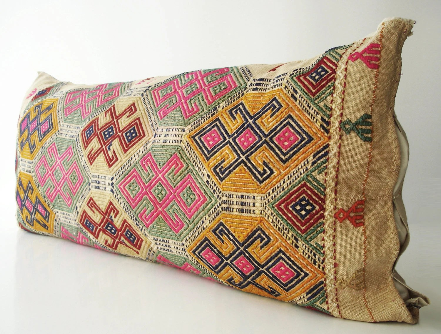 Sukan / Hand Woven - Turkish Sack Pillow Cover - 17x38