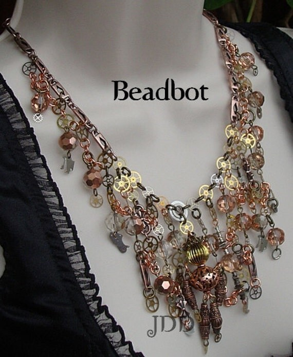 Beadbot Necklace  - EBSQ Award Winner :-)