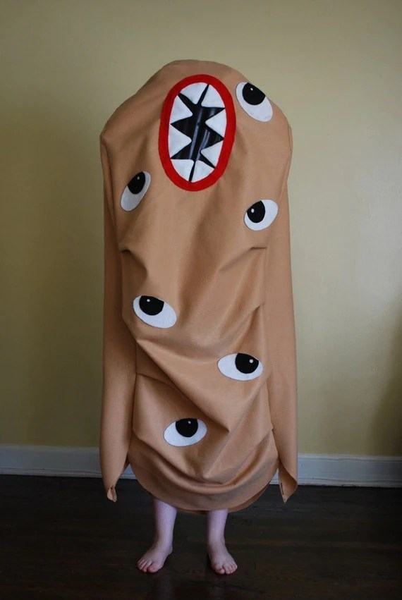 Monster Zombie Potato Adult Halloween Costume