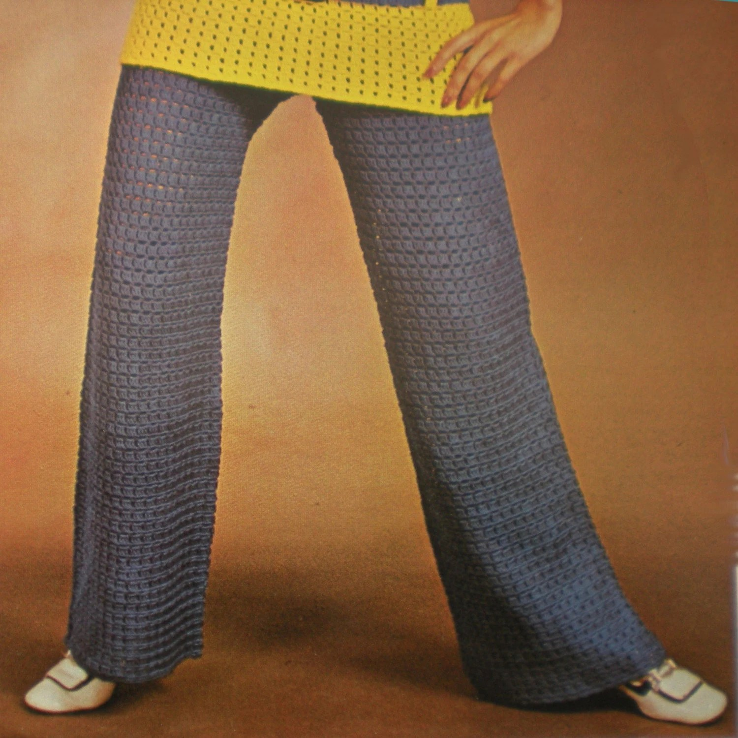 Vintage Crochet Pattern 024 Tunic and Trousers   from WonkyZebra