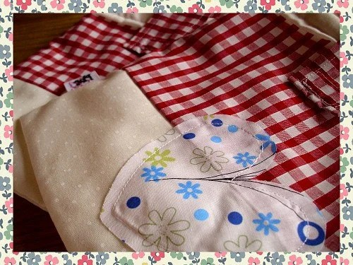 Handmade Shabby Chic Design Baby Nappy Travel Pouch