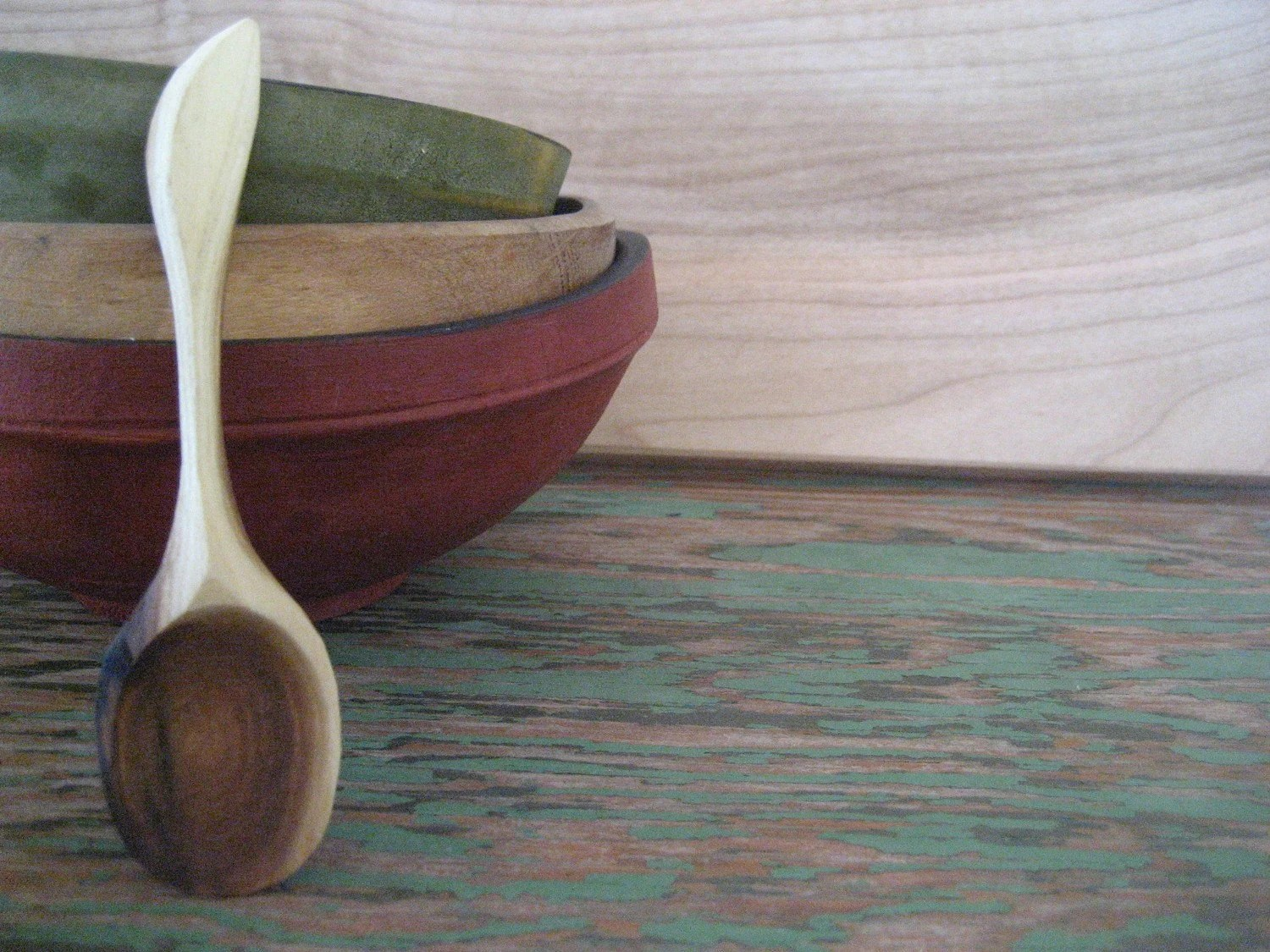 Hand Carved Baby Spoon, Russian Olive