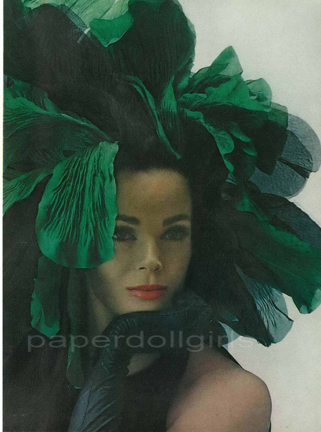 Vogue ad Halston hat headpiece 1963