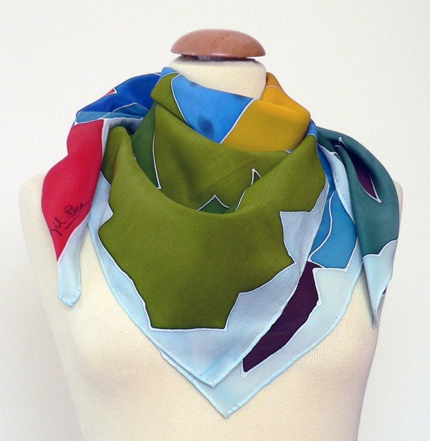 Hand-painted Silk Scarf