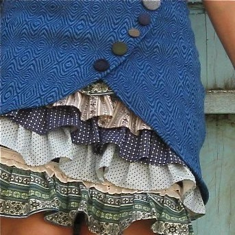 Double Layered Ruffle Skirt