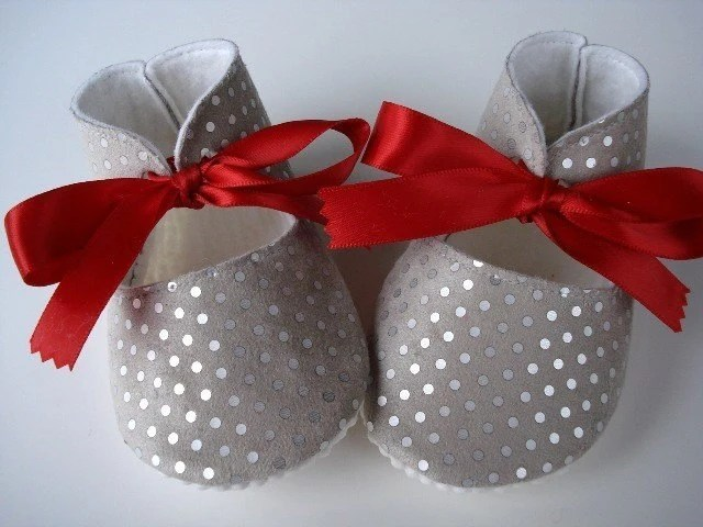 Silver Baby Booties