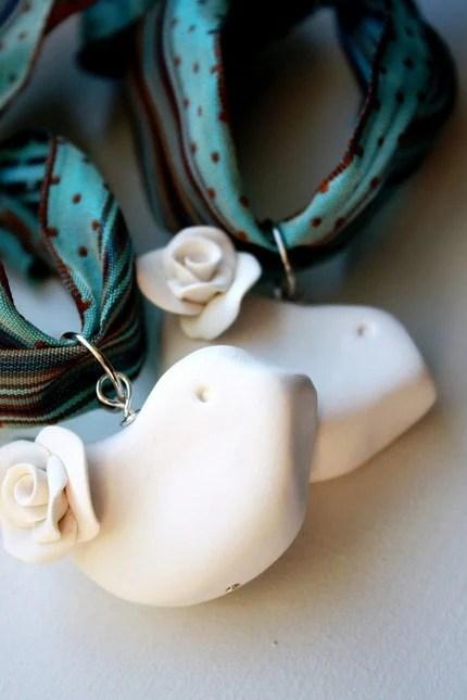 White Doves - Ornament