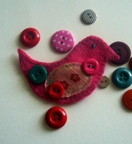pink felt birdie