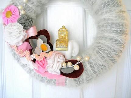 Unique Orient Express Yarn Wreath
