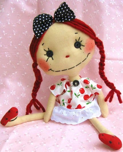 Cloth Art Doll Candy Buttons