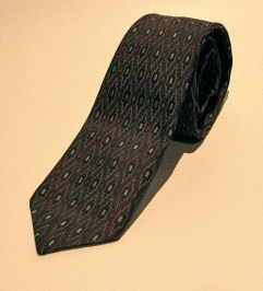 Vintage 1960s Mens Geometric Pattern Necktie