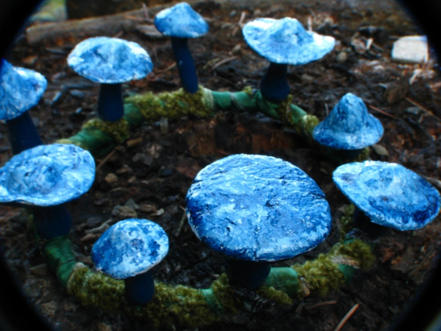 Mushroom Crown Mini Prussian blue