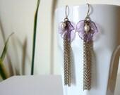 Live Your Own, Long Fairytale Earrings in Brass