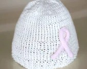 PURE ORGANIC MILK and COTTON HAT October Breast Cancer Awareness Month