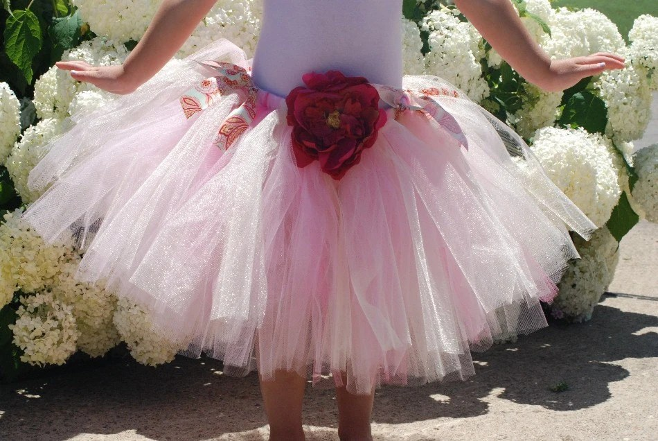 Tutu in Pink with Peony Flower