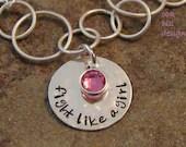 fight like a girl-breast cancer awareness bracelet