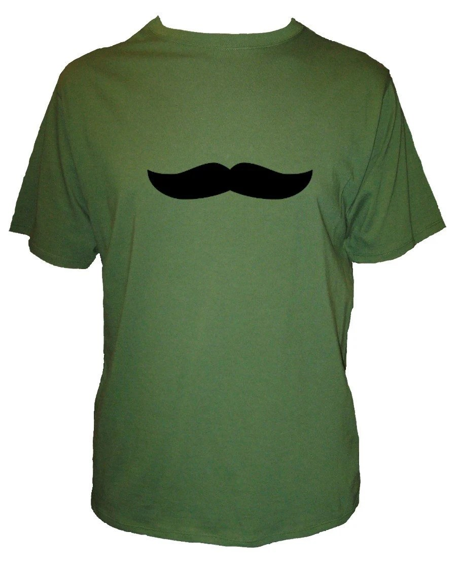 Mustache Shirt / Moustache Shirt - SALE - 2 Colors Available - Mustache - Mens Organic Cotton Shirt - Size Small - Gift Friendly
