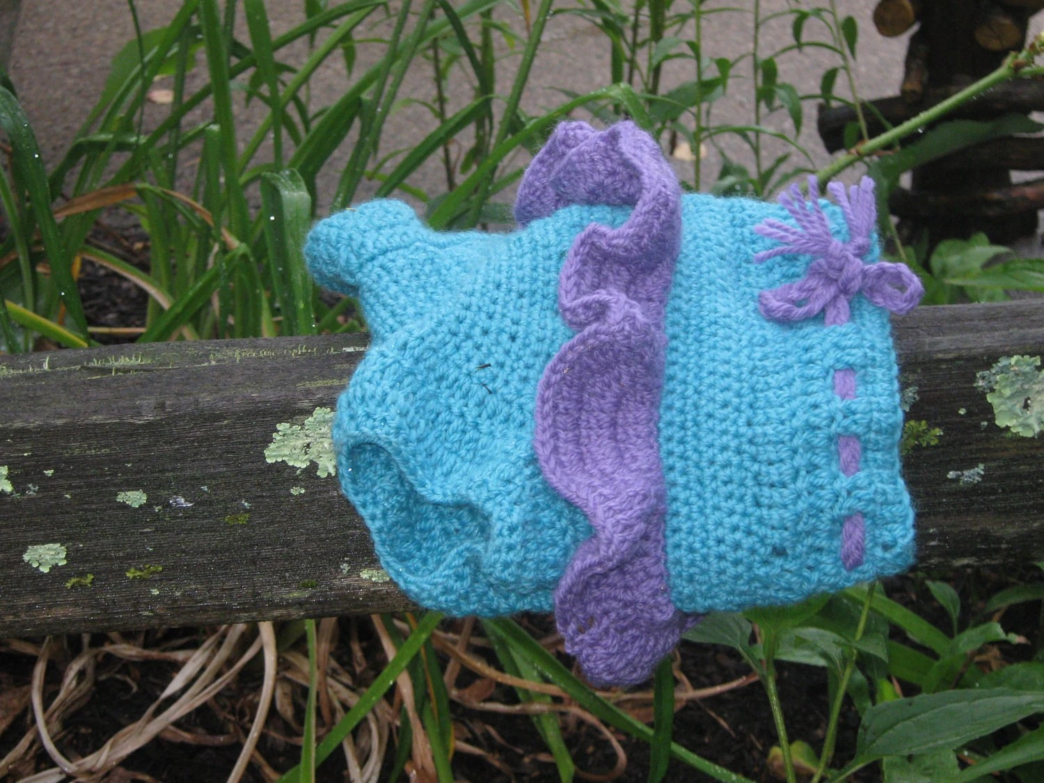 Girly Wool Soaker Diaper Cover, Made to order
