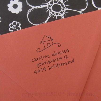 Home Sweet Home Address Stamp (Wood Handle)