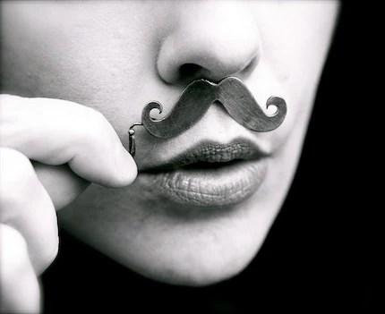 Fancy mustache necklace
