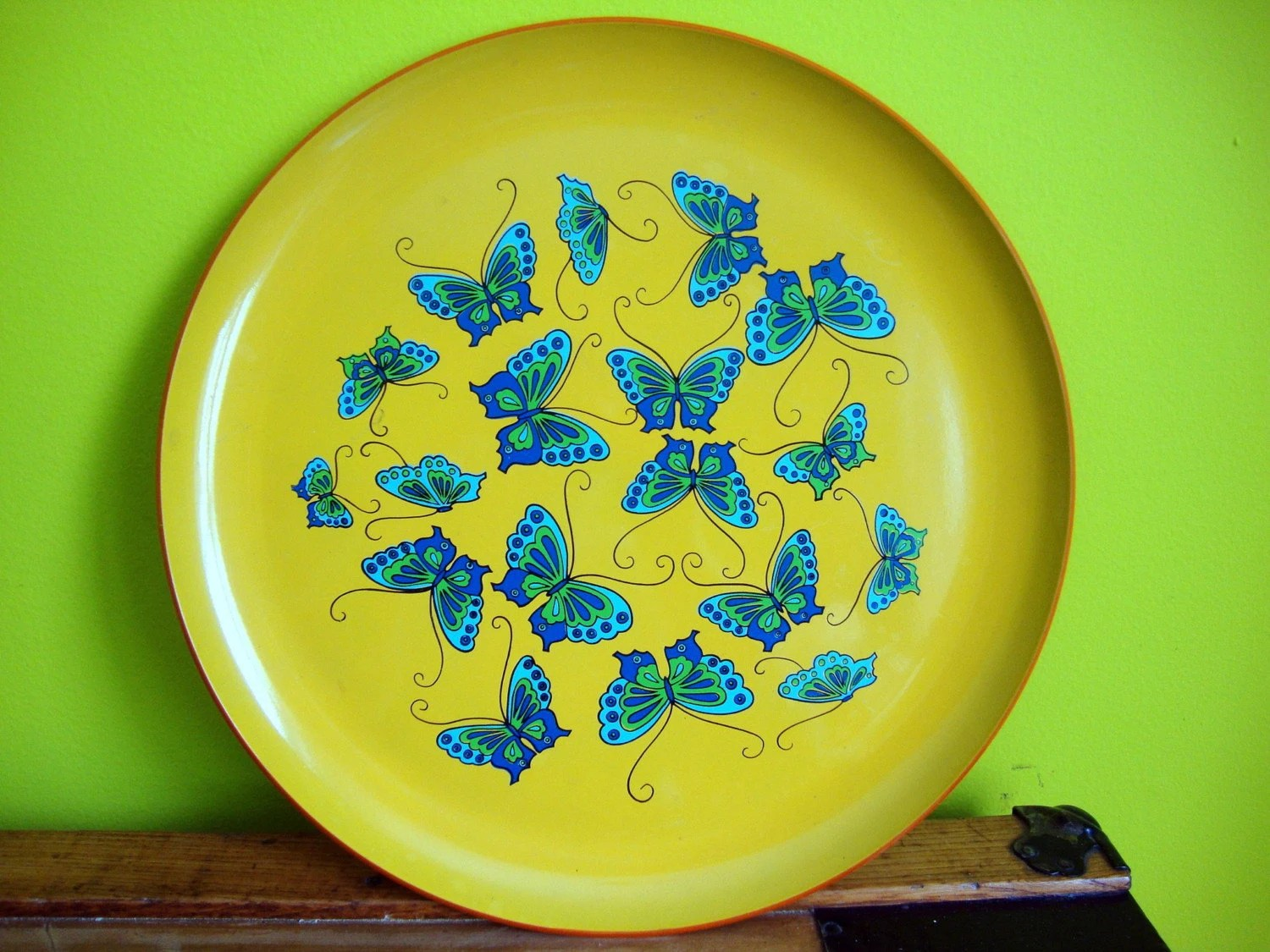 Vintage Retro Butterfly Tray