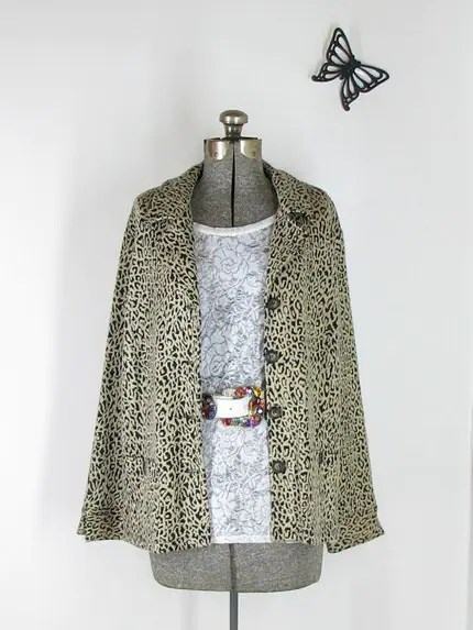 SALE leopard print Laura Ashley Coat no.037